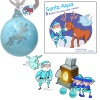 Santa Aqua Bauble and Book