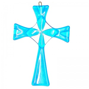 Fused Glass Celtic Cross