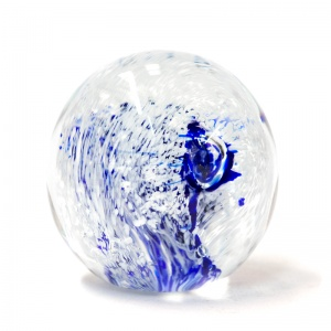 Cobalt and White Large Paperweight