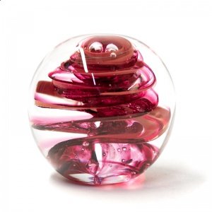 Large Red Swirl Paperweight