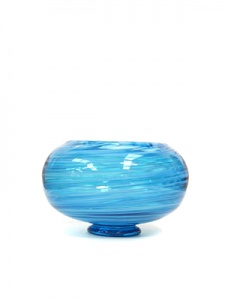 Turquoise Bowl Hand Blown in Bath