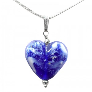 Ashes in Jewellery - Ashes Glass Heart Pendant