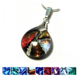 Ashes into Jewellery - Small Mosaic Dichroic Pendant