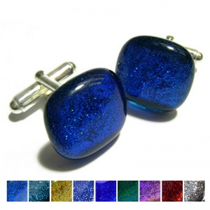 Textured Dichroic Cufflinks