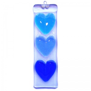 Fused Heart Hanging - Three Hearts