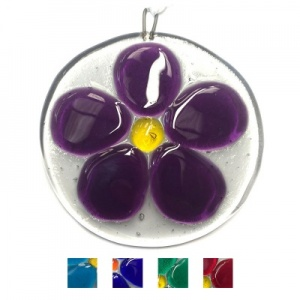 Fused Glass Flower suncatcher