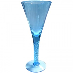 Jane Austen Georgian Glass  Air twist Stem Goblet