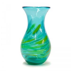 Medium Aqua Green Art Gl Vase