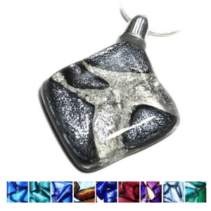 Ashes into Jewellery - Dichroic Diamond Mosaic Pendant