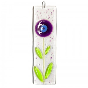 Fused Glass Spring Flower Suncatchers