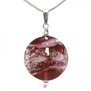 Ashes in Jewellery - Ashes Glass Pebble Pendant