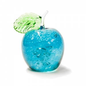 Small Decorative Glass Apple