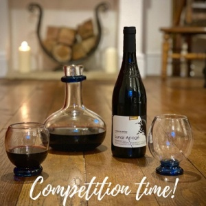 Valentine wine decanter and glass offer