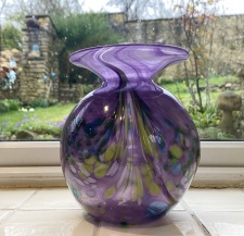 Purple and green posy vase