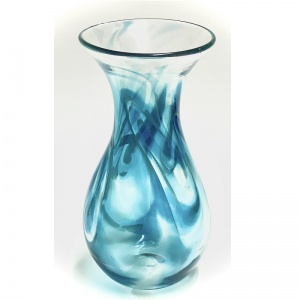 Medium Aqua Art Glass Vase