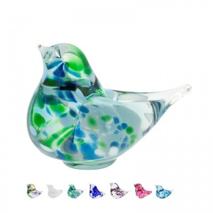 Chickadee small glass bird